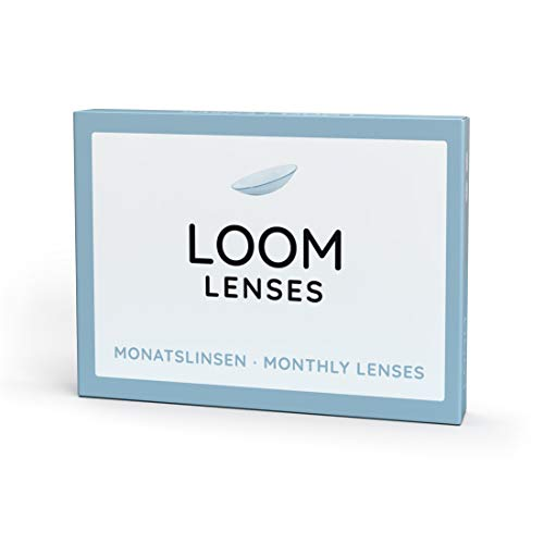 LOOM Monatslinsen - weiche Kontaktlinsen, 30 Tage - 3 Stück, BC 8.6 mm, DIA 14.2: -2.00 Dioptrien