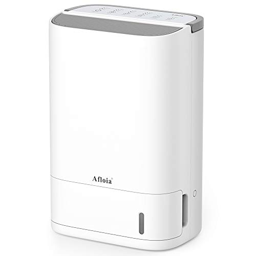 Afloia Dehumidifier for Medium/Large Rooms and Basements, Washable Filter & Continuous Drain Hose, Quiet & Efficient Intelligent Humidity Control