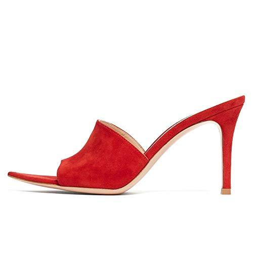 XLY Vrouwen Sexy hoge hakken Peep Toe Slide Sandalen Zomerjurk Slide Mules Dress schoenen
