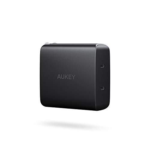 AUKEY [Upgrade] USB C Charger with Dual 18W Power Delivery 3.0 Ports, 36W USB C PD Wall Charger, Compatible iPhone Xs/Xs Max/XR, Google Pixel 2/2 XL, Samsung Galaxy S9+ / Note8 and More
