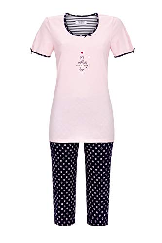 Ringella Lingerie Damen Pyjama mit Caprihose helles rosè 38 1261203, helles rosè, 38