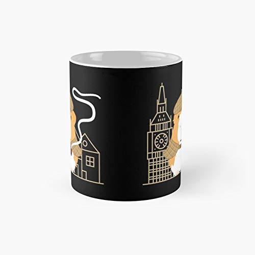 Taza clásica de Sherlock Holmes, conejillo de indias   El mejor regalo divertidas tazas de café de 12 onzas