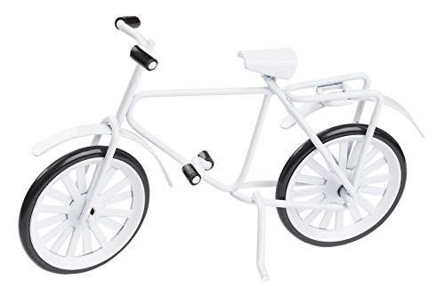 Hobbyfun Miniatur-Fahrrad Weiss 9,5cm