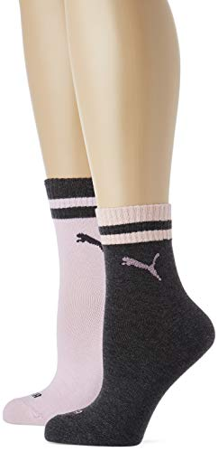 PUMA Damen SHORT LUREX 2P WOMEN Socken, Rosa (Pink Grey 102), Hersteller Größe:39/42 (2er Pack)