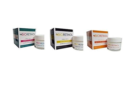 Kit 3 creme antirughe BIO-RETINOL : 1 crema siero di vipera + 1 crema veleno d'ape + 1 crema bava di...