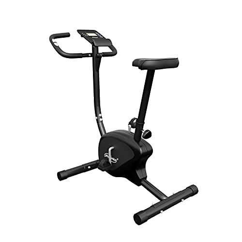 Physionics Cyclette da Casa - Display con Sensori di Pulsazioni, Calorie, Odometro, Sella e Resistenza Regolabili - Bici da Casa, da Camera, Bicicletta Fitness, Statica, per Esercizi