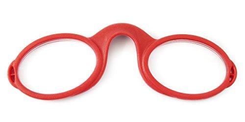 フレクシー リーディンググラス FLEXSEE 鼻めがね 鼻メガネ 鼻にかける 老眼鏡 シニアグラス お洒落 おしゃれ プレゼント ギフト 誕生日 クリスマス 敬老の日 メンズ レディース レッド +1.00