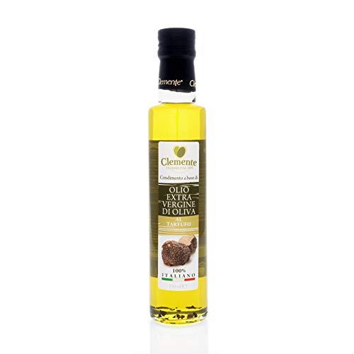 Olio Clemente - 1 Bottiglia di Olio Extra Vergine di Oliva, 100% Italiano, Aromatizzato al Tartufo, 250 Ml