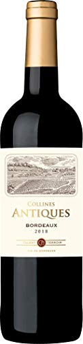 Collines Antiques - Vino tinto de Burdeos, añada 2018, 750 ml