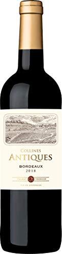 Collines Antiques - Vino tinto de Burdeos, añada 2018, 750 ml