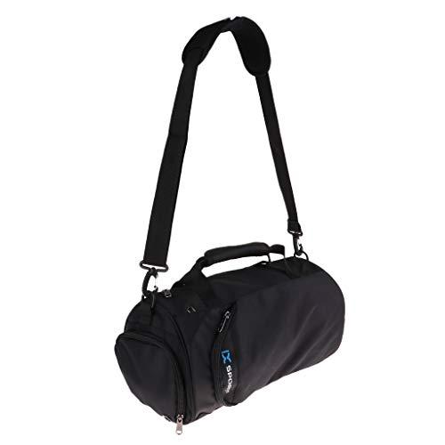 SM SunniMix Bolso de Lona Impermeable del Viaje del Gimnasio de Los Deportes con El Compartimiento del Zapato - Negro, 15 x 9 x 9 Pulgadas