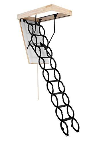 OMAN Bodentreppe 'Flex Termo' - Scherentreppe aus Metall (70 x 70)