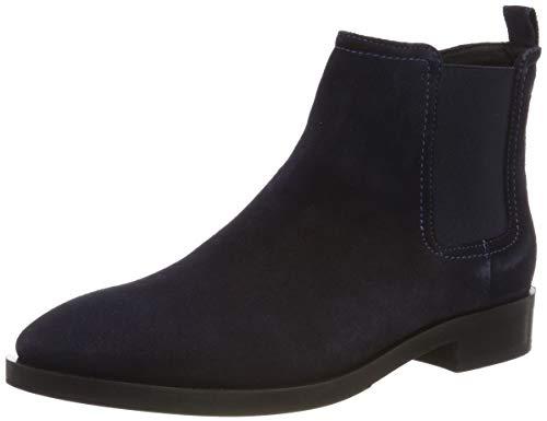 Geox Damen Donna Brogue a Chelsea Boots, Blau (Navy C4002), 39 EU