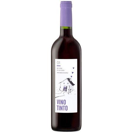 jamon.de Hauswein Nr. 1   Vino Tinto D.O. Utiel-Requena   Rotwein aus Spanien 4 Monate Barrique gereift   Trocken, fruchtig   Bobal, Tempranillo, Cabernet Sauvignon und Merlot