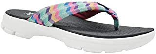 KazarMax XXIV Women's Chevron Multicolour; Air Mesh Memory Foam Flip Flops (3 IND/UK -36 EUR)