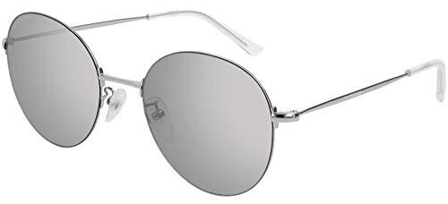 Balenciaga Occhiali da sole BB0016SK 002 occhiali Unisex colore Argento lente argento taglia 55 mm