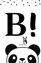 B: 'Monogram Initial B Notebook for Women, Girls and School just a girl kids who loves pandas notebook size 6x9'