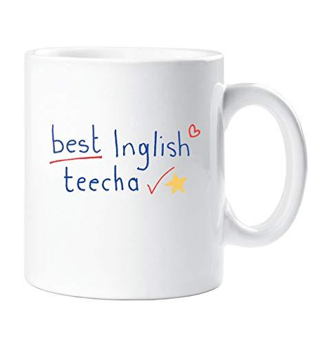 Best Inglish Teecha Becher Beste Englisch Lehrer Becher Lehrer Geschenk Danke Lehrer Weihnachten Neuheit Humor Spassig