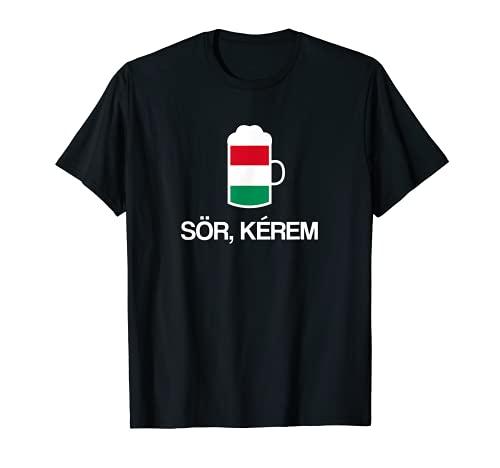 (Ein) Bier bitte auf Ungarisch Ungarn Bier T-Shirt