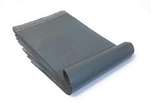 10x Folienversandtaschen Plastikversandbeutel Versandbeutel Warenbeutel Versandtasche (25 x 36cm) grau