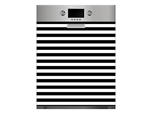 Oedim Vinilo Lavavajillas Rayas Color Negro, Vinilo Decorativo para lavavajillas, decoración para cocinas, pegativa lavavajillas