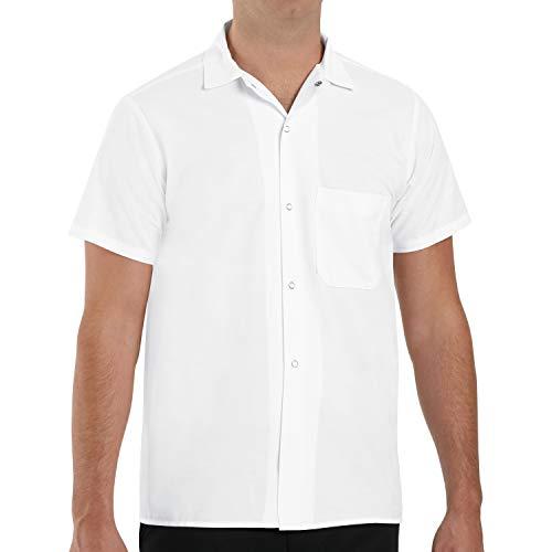 Red Kap Chef DesignsCook Shirt , White, Short Sleeve Medium