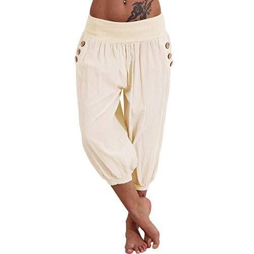 ZEFOTIM - Pantalones elásticos para Mujer (Talla Grande) - - Small