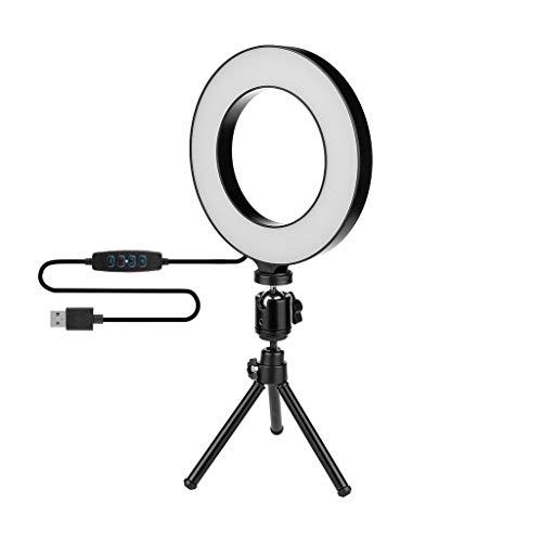 Hey Caterpillar 15,2 cm LED Ring Licht Lampe Selfie-Kamera Telefon Studio Stativ Video Dimmbar für Selfie/Online-Klasse/Live-Übertragung