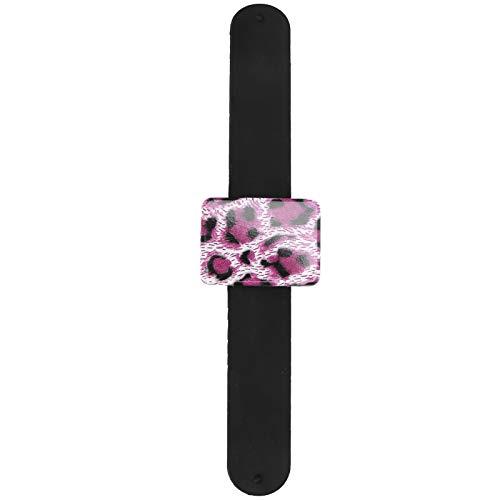 Pulsera magnética de 3 colores, muñequera portátil de Metal, pasador de cojín, soporte para acolchar, alfileres de costura, pinzas para el cabello bordadas(Purple)