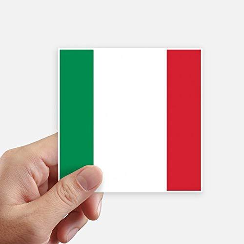 DIYthinker Drapeau National Italie Europe Country Square Autocollants 10CM Mur Valise pour Ordinateur Portable Motobike Decal 8Pcs 10Cm X 10Cm Multicolor