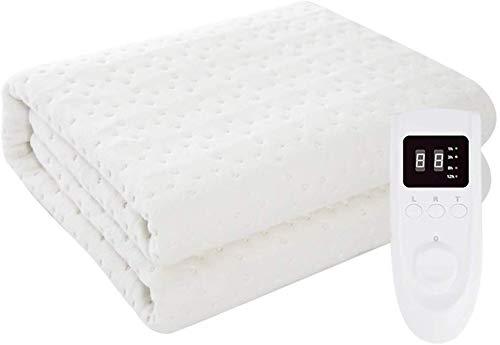 Elektrische warme deken met digitale modus, timer en 5 warmtestanden | elektrische afdekking met automatische uitschakeling | plaids | 1,8 x 1,7 m