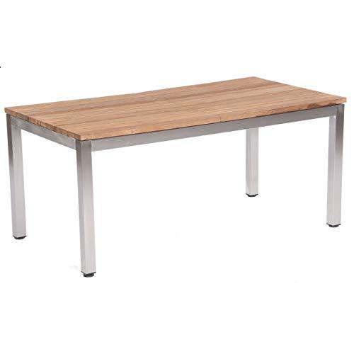 Sonnenpartner Gartentisch Magister ausziehbar 170/280x90 cm Edelstahl/Teakholz Old Teak Tisch Esstisch