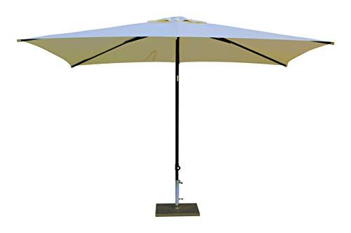 Maffei Art 138r Kronos Parasol rectangulaire cm 200x300, Tissu Polyester. Made in Italy. Couleur Ecru
