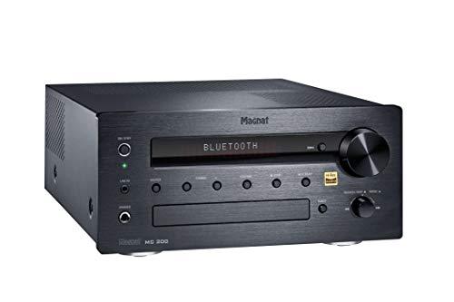 Magnat MC 200, schwarz - kompakter Stereo-Netzwerk-Receiver mit hochwertiger Aluminium-Front und zahlreichen Streaming-Funktionen