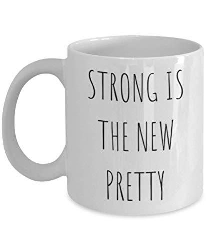 Taza fuerte, hermosa y valiente La más fuerte es la nueva y divertida idea de regalo para amiga Girl Power Super mujer Mujer Bestie Su feminista RGB Microondas Apto para lavavajillas Blanco Novedad Ta