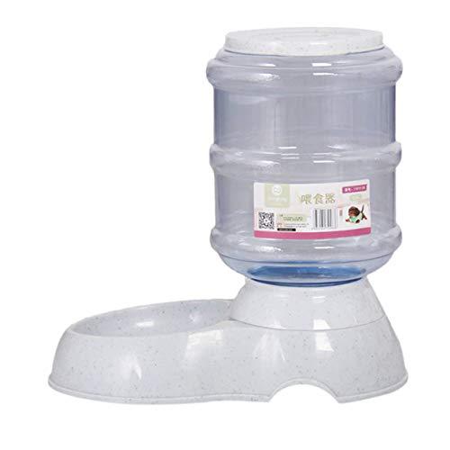 LoveOlvidoD Heimtierbedarf Hund Automatische Spender Wasserzufuhr Futterautomat Futternäpfe Für Hunde und Katzen 3.5L Große Kapazität