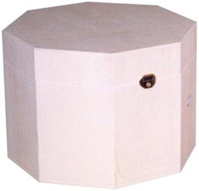 greca Caja Octogonal Mediana. Caja de Madera. Caja en Crudo, para ...