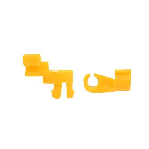 sourcing map 40Pcs Rivet plastique jaune 10mm Clips Tapis d'intérieur Pour voiture