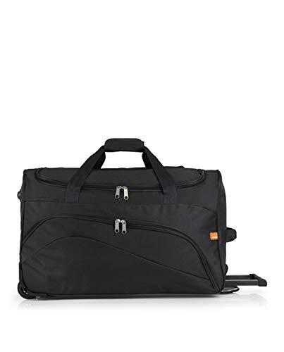 Gabol - Week | Bolso con Rueda de Viaje Mediano de Tela de 60 x 36 x 30 cm con Capacidad para 65 L de Color Negro