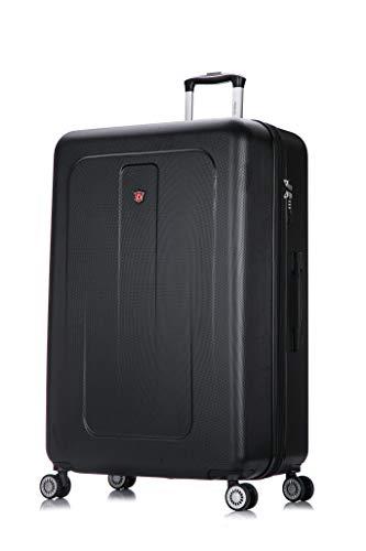 DUKAP Crypto 32 Inch Extra Large Hardside Luggage with Spinner Wheel, Travel Suitcase with TSA Lock and Ergonomic GEL Handle, Black