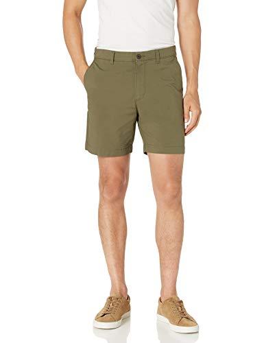 """Amazon Essentials Slim-fit Lightweight Stretch 7"""" Shorts, Olivgrün, 36W"""