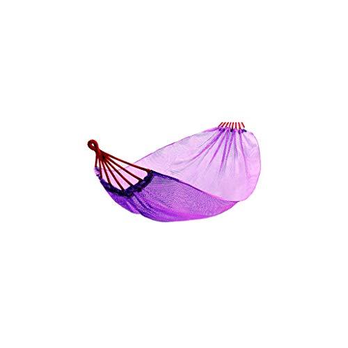 INTER FAST Camping-Hängematte – Mehrzweck-Hängematte – Outdoor, Indoor, Strand, Garten, Camping – Schaukelbett – Schlafsaal Schaukel – 190 cm x 150 cm (Farbe: Violett)