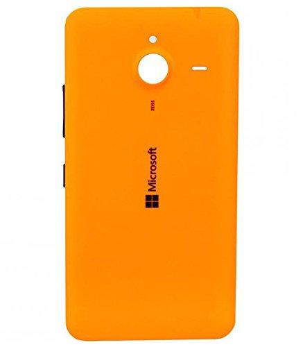 Handyteile24 ✅ Akkudeckel Backcover Akku Deckel Akkufachdeckel Batterieabdeckung Rückseite Cover in Orange für Microsoft Nokia Lumia 640 XL - PN: 02510P9