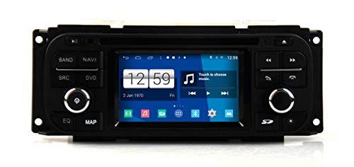 KLL Coche Reproductor de DVD para Jeep Wrangler Libertad para Chrysler Sebring Grand Voyager para Dodge Caravan con Autoradio GPS Navegacioacute;n Esteacute;REO Bluetooth USB Mirror Link