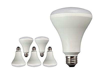 TCP 65 Watt Equivalent LED BR30 Flood Light Bulbs, Energy Star Certified, Dimmable, Daylight (6 Pack) (Renewed)