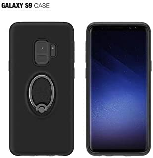 Samsung Galaxy S9 Phone Cover Case .Flexible Soft Material Brushed Carbon Fiber TPU Case for Samsung S9. Armor Case Silicone Protective of Shatter - Resistant Soft Cover (Dard Black)
