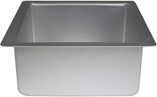 PME SQR084 Quadratische Kuchenform aus eloxiertem Aluminium 203 x 203 x 102 mm, Silver, 20 x 20 x 10 cm
