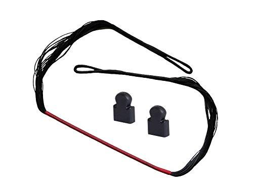 ETU Online Premium Ersatzsehne 150 lbs und 175 lbs Sehne für Recurve Armbrust mit Endkappen Armbrustsehne Recurvearmbrust (175 lbs)