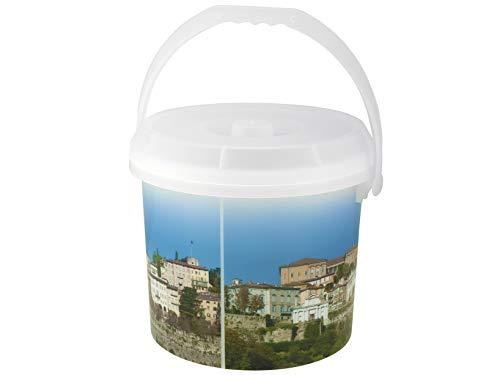 Rocco Bormioli Dem DECORO Heavy Duty Rack All, Plastic, 30x 30x 25cm 30x30x25 cm White/Multicolor