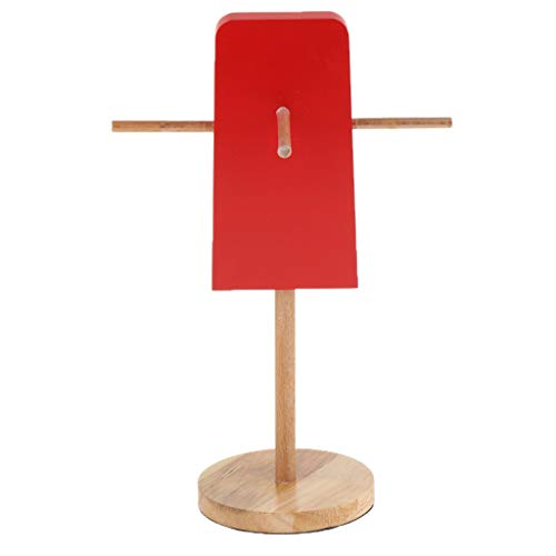 harayaa Summer Ice Lolly Shaped Holzbrille Display für Brillen Store Prop - Rot